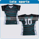 Sublimation printing OEM team rugby jersey 100% polyester made sublimation custom rugby jersey