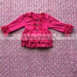 multiple colors choose baby girl clothes super soft cotton triple ruffle baby pink coat