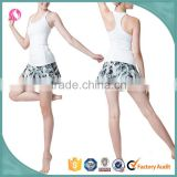 Women Sublimated Yoga Shorts With Skirt Running mma Shorts Dri Fit Crossfit Sports Skirts