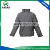 Classical design gray color mens breathable lightweight waterproof fabric nylon Jacket ,bomber jacket