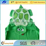 100% Cotton Embroider Baby Hooded Towel Poncho Pattern Bath Towel