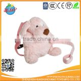 Cartoon Plush Animal Dog Safety 2 in 1 Harness Backpack Anti-lost Shoulder Bags for 1-3 Years Old Kids