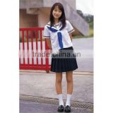 OEM woven cotton and tc fabric beautiful school uniforms