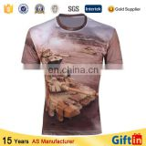 Eco friendly 100% polyester wholesale blankreadymade garments wholesale no brand men 3d ed t-shirts