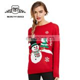 Wholesale Pretty Colorful Custom Ladies Knitted Pullover Women Jumper Christmas Sweater Ugly