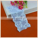 high quality fashion fancy design blue color elastic knitted lace trims for clothing