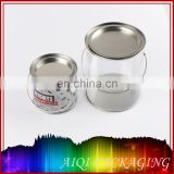 clear PET tin box