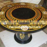 Marble Inlay Table Top , Marble Pietra Dura Table Top
