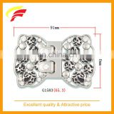 50mm zinc alloy ( zamak ) leopard joint buckle / splice buckle with enamel and rhinestones for sewing on women's belt