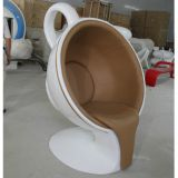 Fiberglass Coffee Cup-shaped Chair