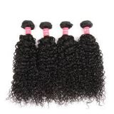 Natural Real  12 -20 Inch Thick Grade 6A For White Women Indian Curly Human Hair