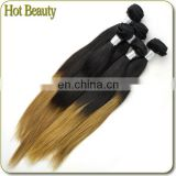 Silky Straight for 2014 2 Tone Cheap Human Hair Weave 6 Piece Lot