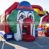 Giant clown inflatable bouncers with slide lovely bouncing castle inflatable toys for kids