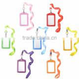 ID Badge Card Holder with Long Neck Strap Band Lanyard for Business Exhibition and Office