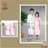 microfiber suede facric bathrobe (microfiber,terry, velour, waffle,,etc) bamboo bathrobe