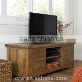 S-4002 Hot Sale!!!Oak Tv Cabinet With Showcase Shabby Chic Tv Cabinet