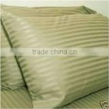 Hotel 100% Cotton Plain White 1cm Stripes Satin Hotel Pillow Case