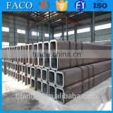 Tianjin square rectangular pipe ! car exhaust pipe high quality 2.5 inch black square steel tube