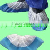 Hospital dental supply medical standard Disposable shoe cover shoecover CPE coated PP polypropylene