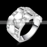 yiwu custom engraved unisex unique zircon silver rings