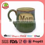 Mom white square ceramic mug with handle low price