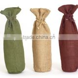 draw string jute wine Bag