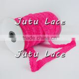 Hot Pink Lace Elastic - Choose 1 or more colors 1 inch for Baby Headbands - Hairbow Supplies, Etc