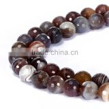 Good Sale Faceted Round Brown Botswana Agate Gemstone Loose Beads