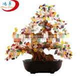 Natural crystal beaded tree apple tree for holiday decoration