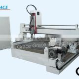 wood cnc router G1325 with large 4th axis