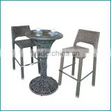 Bistro bar tables and chairs set metal JJB-18TC