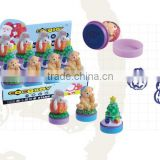 Little Figurine Cartoon Plastic Stamp/Promotional Plastic Hot Sale Animal Toy Self-inking Stamp