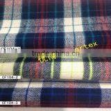 100% cotton yarn dyed check fabric with brush in stock for garment and shirt 21*21 64*54