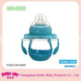 Best sale excellent quality low price durable BPA free 150ml borosilicate glass baby feeding bottle