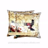 Indian Pillow Case Digitalprint Bird Cushion Cover