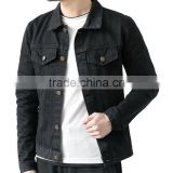 manufacturer Mens Casual Button Front Relaxed Denim black jeans Jacket