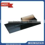 280 x 100 x 0.8 mm Plastering Trowel with Carbon Steel Blade Black Finished wooden handle masonry tool