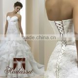 Luxury Italy Designe Mermaid Wedding Dress / Gown Beaded Lace Organza