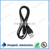 DC plug moulded power supply cable assembly DC 2.5*0.8 male connector to USB 2.0 A male power extension cables