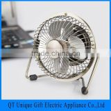 Factory Wholesale Ultra Quiet Desk USB Fan With Aluminum Blade