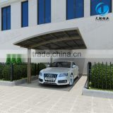 Modern aluminum sun shading polycarbonate sheet car awning and canopy