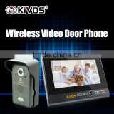 2.4GHz 7 inch screen color CMOS camera wireless video door phone for villa intercom system