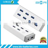 Multi-port 7 Port High Speed USB Wall Charger Hub Station Power Adapter Power Hub Station
