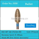 HP bullet shape medium grit sintered diamond accessories
