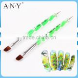 ANY Cheap Nail French Nails Design Two Way Use Oval Nail Art Brush Dotting Pen
