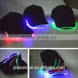 New LED Lighted Glow Club Party Baseball Hip-Hop Adjustable Black Fabric Hat Cap                                                                         Quality Choice