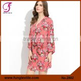 FUNG 2802 Women Floral Wholesale Cotton Robe