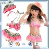 3pc Leopard grain sexy bikini swimwear for kids                                                                         Quality Choice