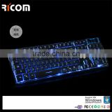 New Mechanical Keyboard Factory Wholesale 104 Keys Wired LED Backlit Computer Gaming Keyboard--LK613--Shenzhen Ricom