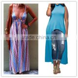 latex elegant sleeveless summer fashion dress long maxi dress slit for women wholesale plus size maxi dress 2016